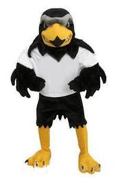 Wholesale Deluxe Mascot - 2018 High quality Deluxe Plush Falcon Mascot Costume Adult Size Eagle Mascotte Mascota Carnival Party Cosply Costum