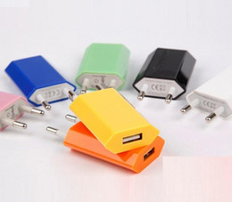 Wholesale Colorful Usb Wall - 5V 1000mah Colorful EU US Plug USB Wall Charger AC Best Power Adapter Home Charger for iphone Samsung Galaxy