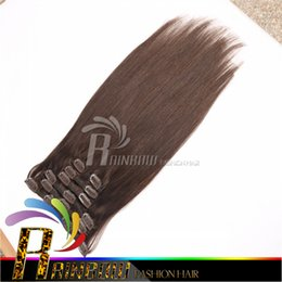 Wholesale Cheap Hair Extensions Fast Shipping - Factory price cheap Brazilian Remy Human Hair Clip In Hair Extension 7 Pcs Lot total 120g(100g hair 20g clips) fast free shipping