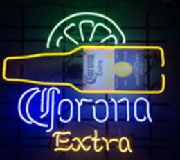 Wholesale Bar Signs Corona - New CORONA EXTRA Glass Neon Sign Light Beer Bar Pub Arts Crafts Gifts Lighting Size 22