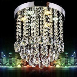 Wholesale Modern Chandelier Large - New Crystal Chandelier Mini Light Fixture Large Clear Crystal Lustre Lamp for Aisle Stair Hallway corridor porch light