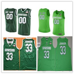 Custom Mens Michigan State Spartans College Basketball Apple Green 23 33 45 Personalized  Stitched Any Name Any Number Jerseys S-3XL 381fb19dc