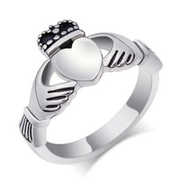 Wholesale Wholesale Claddagh - Personalized Stainless Steel Ireland Claddagh Rings Irish Claddagh Engagement Ring in Stainless Steel