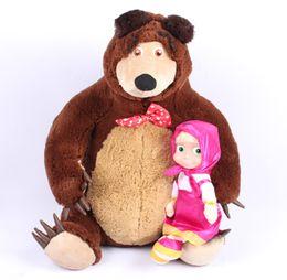 Wholesale Masha Bear Toys - Free Shipping Russian Musical Masha and Bear Anime Toys Brand Educational Dolls For Girls Birthday Christmas New Year Gifts