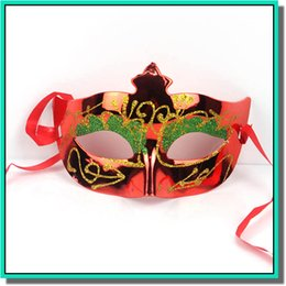 Wholesale Mask Masquerade Halloween Electroplated - Woman Mask Halloween Masquerade Masks Mardi Gras Venetian Dance Party Face electroplating Mask 7 colors