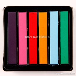 Wholesale Easy Soft Pastel - Hot Sale European 6 Color Easy Temporary Colors Non-toxic Hair Chalk Dye Soft Hair Pastels Kit Crayons for Hair A5