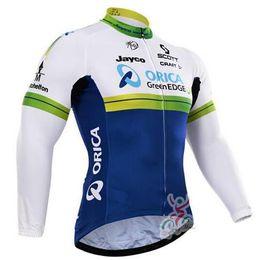Wholesale Greenedge Cycling Set - orica greenedge clothing 2015 cycling long sleeve strap Set   professional team Cycling clothing Cycling Jersey Sizes: XXS-6XL