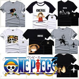 Wholesale Tee Shirt One Piece - Wholesale-One Piece T-shirt cotton luffy anime short sleeve men t shirts tops tshirt tee