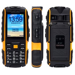 Wholesale Rugged Power Banks - Original IP67 Rugged Waterproof Power Bank Cell Phone SUPPU X6000 MTK6261 6000mAh Big Battery 2.4inch feature torch mobile phone