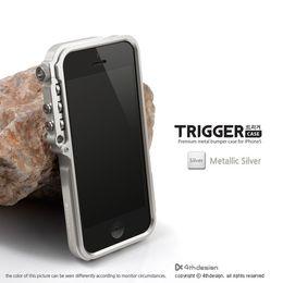 Wholesale Iphone5 Blue - Trigger metal bumper for iphone5 5s 6G 6 Plus M2 4th design premium Aviation aluminum bumper case tactical edition