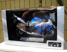 Wholesale Suzuki Brand Motorcycles - Wholesale-Brand New 1 12 Scale Motorcycle Model Toys Suzuki GSX R1000 Blue Diecast Metal Motorbike Model Toy For Gift Collection Kids