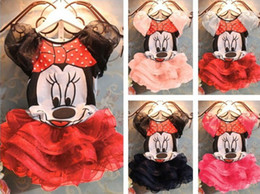 Wholesale Cute Shirts For Girls - 2015 Baby Girls Clothing Sets Minnie Mouse Summer Children Suit for Toddler Girl Cute Cotton T shirts + Skirt Kids Clothes Sets