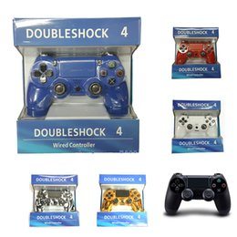 Wholesale Usb Pads - For PlayStation 4 PS4 Wired Game Controller Gamepad Golden Camouflage Joystick Game Pad Double Shock USB Controller Console Not Original