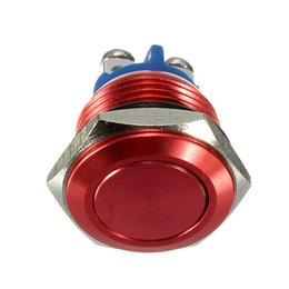 Wholesale Stainless Momentary Switch - 2015 New 16mm Start Horn Button Momentary Stainless Steel Metal Push Button Switch Red Excellent Quality