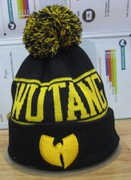 Wholesale Wool Skull Caps Wholesale - Wholesale-S PLUS 3pcs Fashion Winter WU TANG CLAN WuTang Touca Beanies For Women Men Gorros Bonnet Knitted Hats Wool Caps Skullies