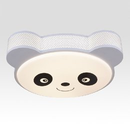 Wholesale Cartoon Panda Lamp - LED Cartoon Panda Children's Room Ceiling Lamp Creative Cute Baby Room Ceiling Light LED Kid's Bedroom Ceiling Fixtures