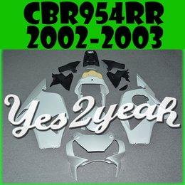 Wholesale Cbr954rr Plastics - In Stock Yes2yeah Injection Mold Unpainted (Unpolished) Fairings For Honda CBR900RR 954 CBR954RR CBR 954RR 2002 2003 02 03 H95Y00