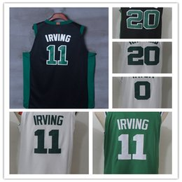 Wholesale Gordon Jersey - 2017 2018 New Style 11 Kyrie Irving 20 Gordon Hayward Jersey Home Road White Green Black 0 Jayson Tatum Basketball Jerseys All Stitched