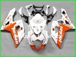 Carcaças de gsxr branco laranja on-line-2105 kit de carenagem para SUZUKI GSXR 1000 05 06 GSX-R GSXR 1000 K5 2005 2006 moda laranja conjunto de painéis brancos