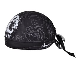 Wholesale Knight Scarf - Wholesale-Men's Black Magic Dragon Knight Cycling Bicycle Bike Sweat Proof Hat Headband Riding Outdoor Sports Pirate Cap Scarf One-Size