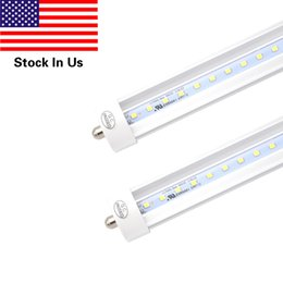 """Wholesale Clean Cool - 8ft 45W T8 LED Tube, FA8 Single Pin 96"""" fa8 Light Bulb 6000K Cool White Lamps With Clean Cover (25 Pack, US Stock)"""