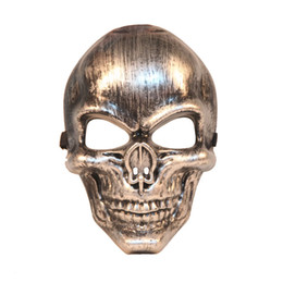 Wholesale Horror Film Face Masks - Halloween Cool Skull Mask Full Face Masquerade Party Horror Mask Feild Battle CS Cosplay Props SD979