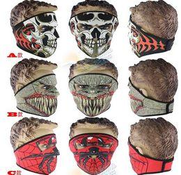 Wholesale Neoprene Face Mask Ski Snowboard - 2016 New Neoprene Full Skull Face Mask Halloween costume party face mask Motorbike Bike Ski Snowboard Sports Masks