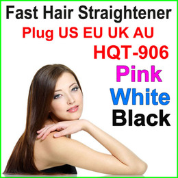 Wholesale Electric Massage Brush - 2016 Fast Hair Straightener Styling Tool Brush Massage comb Flat Iron Comb LCD Digital Temperature Control hair Comb US EU AU UK plug
