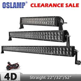 "Wholesale 52 Led Light Bar - Oslamp 4D 22"" 200W 32"" 300W 52"" 500W CREE Chips LED Light Bar Offroad Combo Led Work Driving Light for Truck SUV 4x4 4WD 12v 24v"