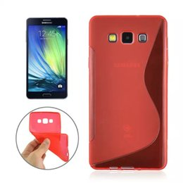 Wholesale Galaxy S Clear Case - For Galaxy A310 A510 A710 J3 J5 J7 J310 J510 A3 A5 A7 S Wave Line Soft TPU gel silicone cases Colorful Fashion Crystal Jelly skin cover