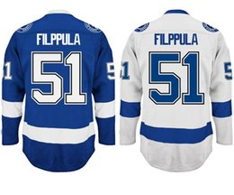 Wholesale Hockey Supplies - Factory Outlet, Cheap Factory Directly Supply Mens #51 Valtteri Filppula Jersey Top Quality Embroidery Logos Ice Hockey Jerseys Accept Mix O