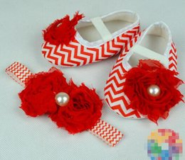 Wholesale Neonatal Baby - 6%off!2015 Nice big flowers baby toddler shoes.Zebra stripes lace square mouth shoes. Neonatal suit 1pcsheadband + 1pcs shoes baby wear,2pcs