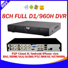 Wholesale D1 H 264 8ch - 8 Channel H.264 240fps real time full D1 and 960H CCTV Standalone DVR Cloud network HDMI 1080P 8CH DVR recorder+Free shipping