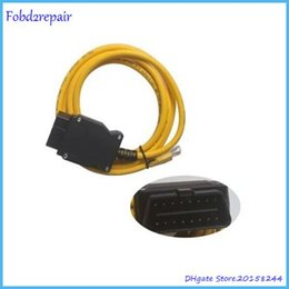 Wholesale Enet Cable - Fobd2repair BMW ENET Interface cable E-SYS ICOM Coding for F-series ENET Ethernet to OBD ENET ESYS OBDII Coding Cable+CD