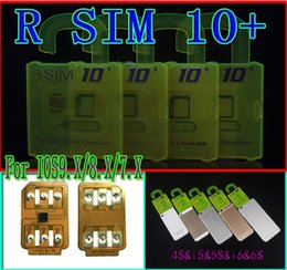 Wholesale Iphone 5s Ios7 - Original R-SIM 10+ RSIM 10+ Rsim10+ r sim 10plus unlock card for Iphone 6s 6 6Plus 5s 5 IOS9.1 IOS9.0 IOS7.X-IOS9.X 3G 4G CDMA FOR sprint AU