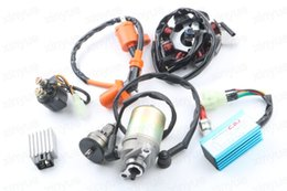 Wholesale Scooter Parts Clutch - GY6 50cc Motor Assy Starter,Clutch,RECTIFIER,CDI ,STATOR COMPONENT-8, Relay for 139QMB Scooter ATV Go Karts Moped Engine Parts
