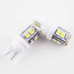 Wholesale 2x 12 - 2X W5W T10 0.3W 12-LED SMD 5500K 12 V Car Side Wedge White Light Reading Bulbs