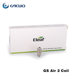 Wholesale gs head - Authentic Eleaf GS Air 2 Atomizer Head Pure Cotton Head 0.75ohm Replacement Coils Fit for iStick Basic Kit GS-Air 2 Atomizers