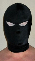 Wholesale Eye Mask Carnival - Black Lycra Mask   hood eye can see outside of spandex