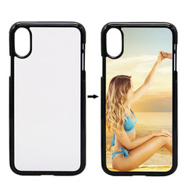 Wholesale House Blank - Coque For iPhone X PC Case 2D Sublimation Cover DIY Hard Plastic Blank Phone Cover Housing For iP X With Plate Fundas For iPhone x Cover