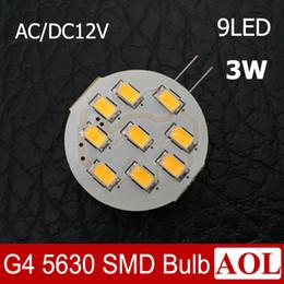 Canada 3W G4 5630 9 LED AC / DC 12V lustre lampe en cristal RV marine bateau ampoule de maïs lumière intérieure remplacer la lampe halogène Offre