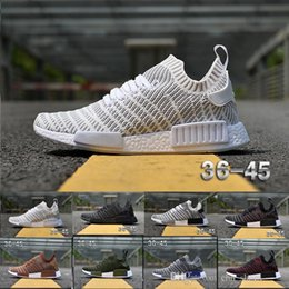 Wholesale Womens Shoes Size 14 - 2018 NMD R1 PK Running Shoes NMD XR1 Runner Mens Womens Cheap Sneakers 14 Colors Zebra Black White Grey Green Purple Brown Size US5-11