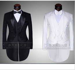 Wholesale Men S Grooming Set - Wholesale-New Male men's suit mounted casual suit the groom tuxedo set and Groom Wedding Dress Suit Men's Tail Suit