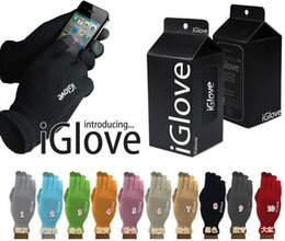 Wholesale Retail Package Ipad - Unisex iGlove Capacitive Touch Screen Gloves for iphone for ipad smart phone iGloves gloves Copy with Retail Package 100pcs=50pairs
