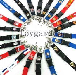 Wholesale Mixed Keychain - Wholesale - HOT! New 50 Pcs Football Lanyard for MP3 4 cell phone keychain ID holders for collection Mix order Free shipping
