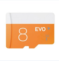 Wholesale Dropship Free - 100% real capacity Class 10 EVO 8GB 5 pieces Micro SD Card Micro SD TF Memory Card C10 Flash SDHC SD Adapter SDXC White Orange free dropship