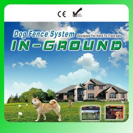 Wholesale Two Dog Control Collars - 8pcs 6666 square meter Dog Fence System Remote control of pet activity with 5 levels of Vibration and Static