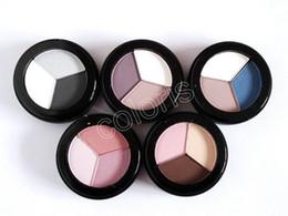 Argentina Maquillaje Sombra de Ojos Tres Colores Paleta de Sombra de Ojos 2.25g total 5 colores 50pcs cheap three colors eye shadow Suministro