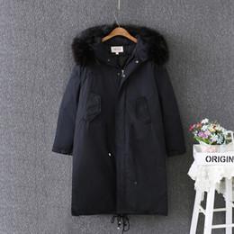 Wholesale Collor Fur - OLGITUM 2017 Women's Cotton Coat winter Fur Big Collor Jacket Long Women Parkas ladies coats female jackets Plus