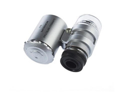 Wholesale Big Magnifier - 60x Handheld Mini Pocket Microscope Loupe Jeweler Magnifier With LED Light